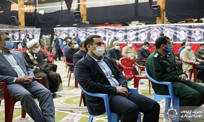حضور شهردار ساری در هفدهمین یادواره شهدای بخش چهاردانگه شهرستان ساری