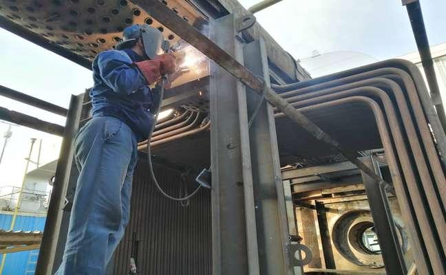 آغاز پروژه ریتیوب بویلر کمکی شماره دو نیروگاه بندرعباس