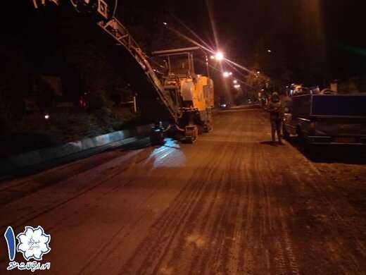عملیات آسفالتتراشی لایه دوم آسفالت ضلع جنوبی خیابان عباسی