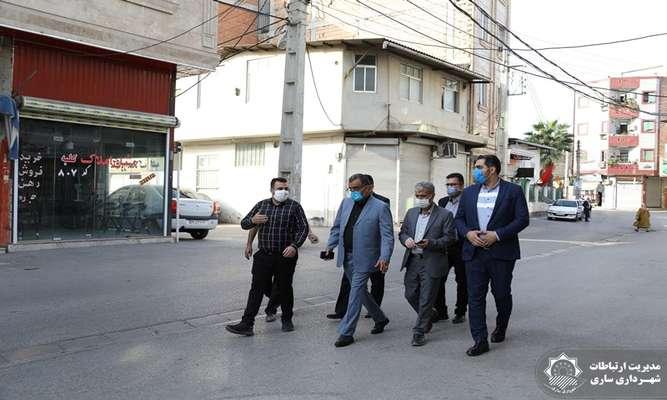 بازدید نماینده مردم ساری و میاندورود از محلات حوزه منطقه یک و دو شهری ساری