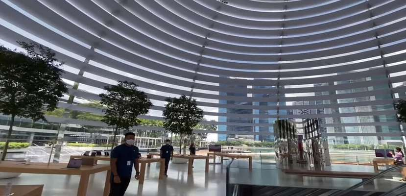 فروشگاه شناور اپل در سنگاپور رونمایی شد