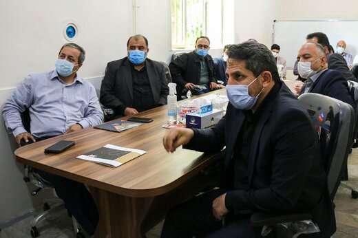 جلسه هماهنگی پروژه پارک بزرگ باغشمال تبریز
