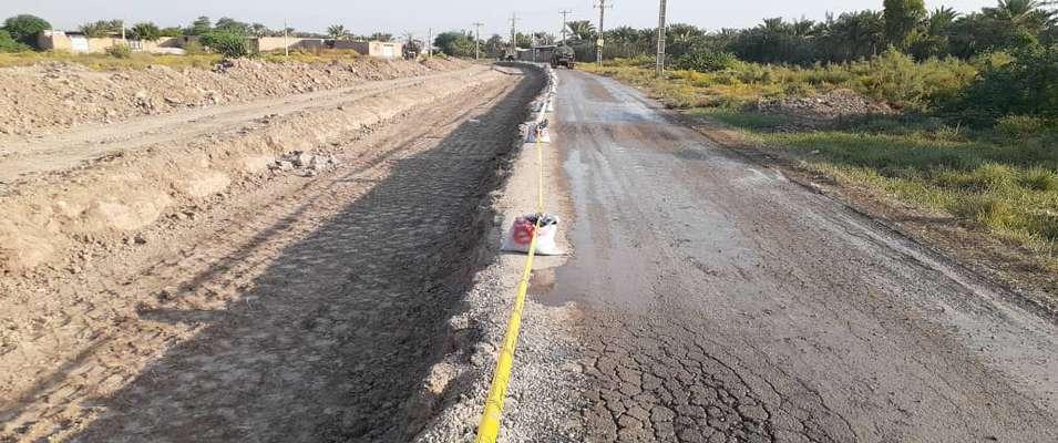 پروژه تعریض زیرسازی و آسفالت جاده نظامی به طول 3 کیلومتر توسط شهرداری خرمشهر