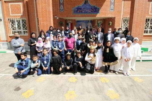 افتتاح کتابخانه طرح آموزش شاهنامه در دبستان پسرانه