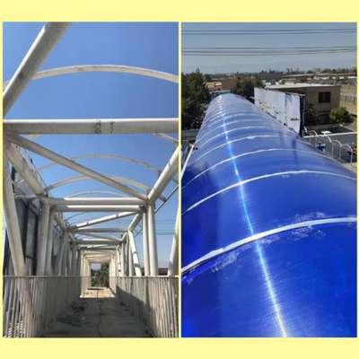 نوسازی بیش از ۴۳۰۰ متر مربع پوشش پلی کربناتی سقف پل های عابر پیاده