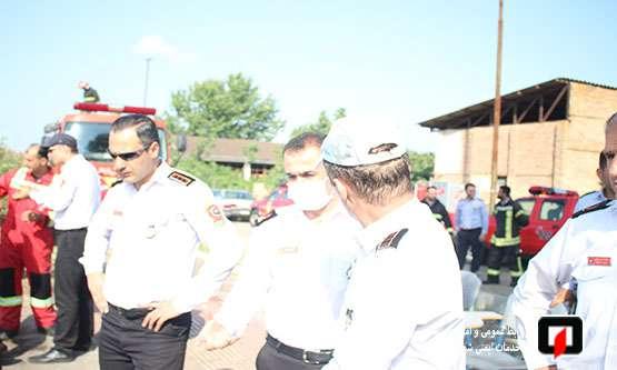برگزاری مانور آبگیری از منابع روباز در آستانه 7 مهر روز ایمنی و آتش نشانی / آتش نشانی رشت