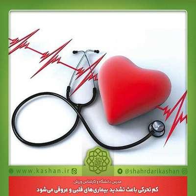 کم تحرکی باعث تشدید بیماری های قلبی عروقی می شود