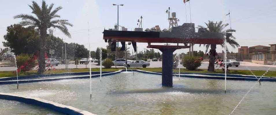 آبنمای میدان نیروی دریایی توسط شهرداری خرمشهر فعال و راه اندازی شد