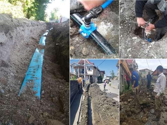 500متر از شبکه آب شهر اسالم در شهرستان تالش بازسازی شد