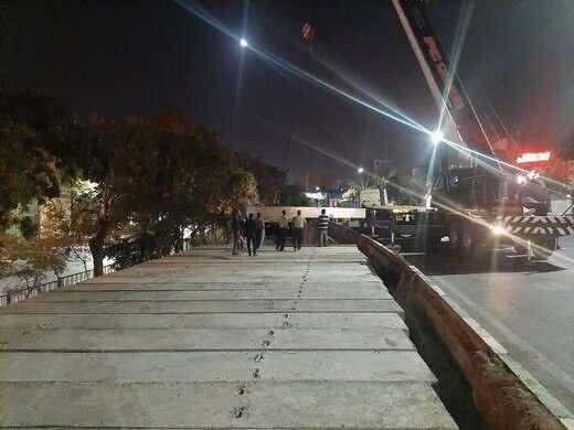قسمتی از بخش نشست کرده کانال ایلی سو در خیابان آزادی دال گذاری شد