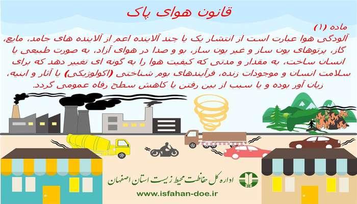انتشار اینفوگراف قانون هوای پاک- ماده 1