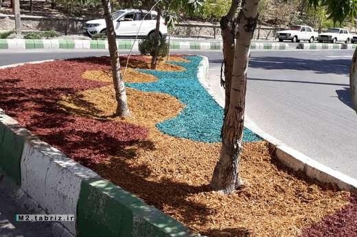 استفاده از طرح چیپس چوب در معابر شهری منطقه ۲