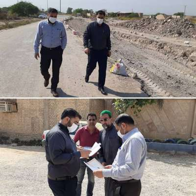 بازدید میدانی نائب رئیس شورای اسلامی شهر خرمشهر از عملیات اجرایی پروژه های عمرانی شهرداری