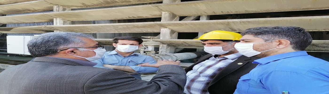 بازدید مهندس پیشاهنگ معاونت راهبری تولید شرکت برق حرارتی از نیروگاه بیستون