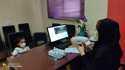 اجرای طرح غربالگری تنبلی چشم در پارک بانوان رضوان
