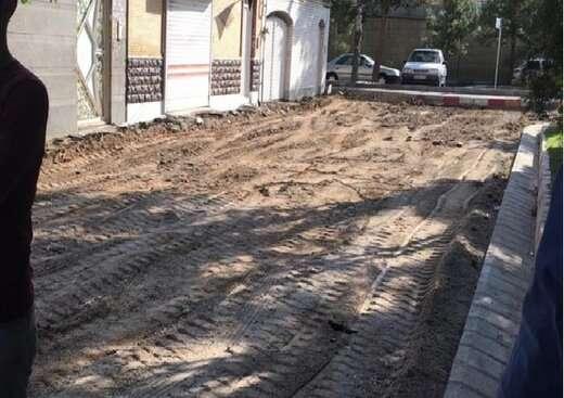 اجرای عملیات بهسازی معابر کوی البرز به مساحت ۲۰۰۰ مترمربع