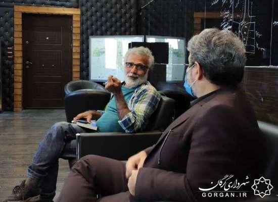 دیدار کارگردان مطرح سینما با شهردار گرگان