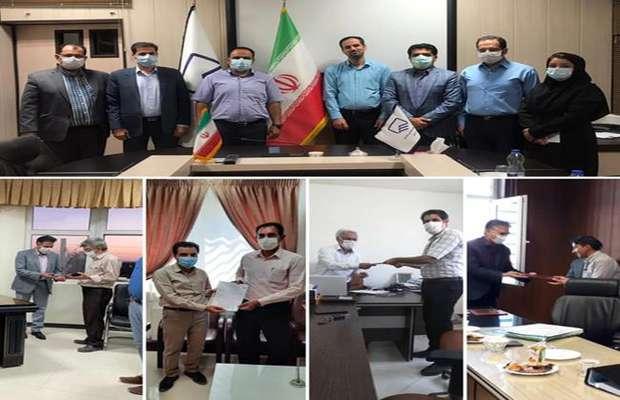 اعطای ابلاغیه گروه های کنترل نقشه های تاسیسات برقی استان