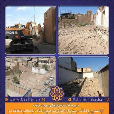 آزادسازی و تملک بیش از 12هزار مترمربع املاک و معابر منطقه دو