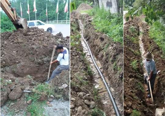 با رفع مشکل خط آبرسانی روستایی فومن از هدر رفت 3 لیتر آب در ثانیه جلوگیری شد