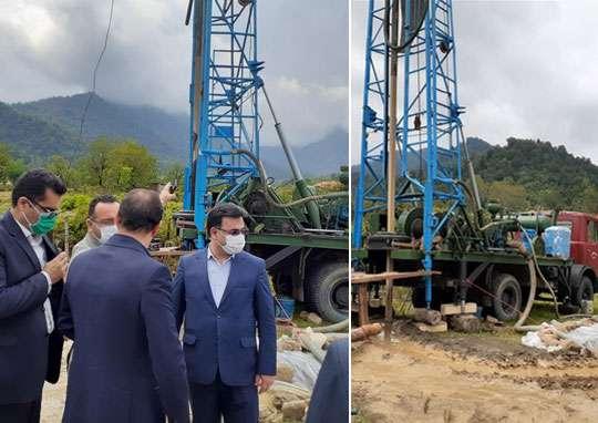 فرمانده عملیات هوانیروز ارتش، فرماندار و مسئولین شهرستانی از وضعیت پروژه آبرسانی منطقه آبرود فومن بازدید کردند