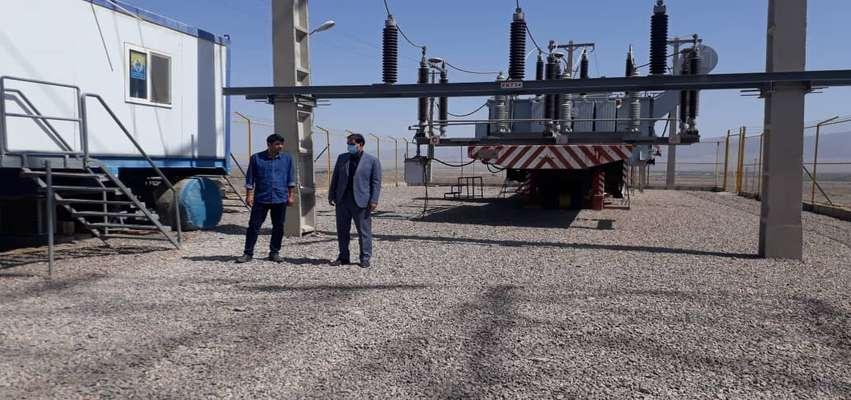 بازدید مدیرعامل برق منطقهای یزد از پروژه پست ۱۳۲ کیلوولت بهاباد