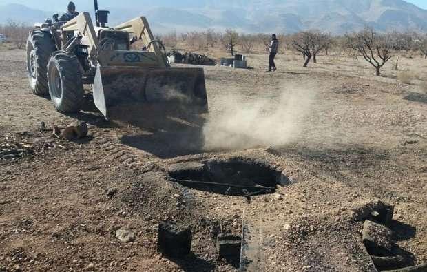16 حلقه چاه غیرمجاز در شیراز و مرودشت مسدود شد