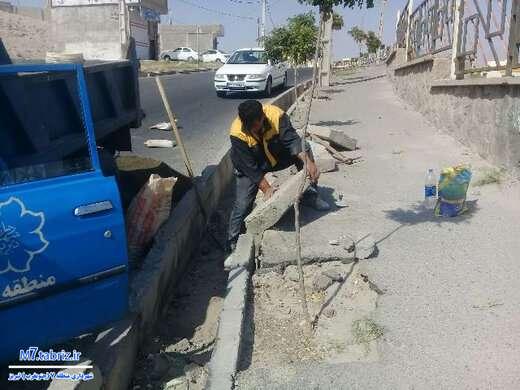 ساماندهی کانالها و آبروها؛ اولویت کاری خدمات شهری منطقه ۷ تبریز