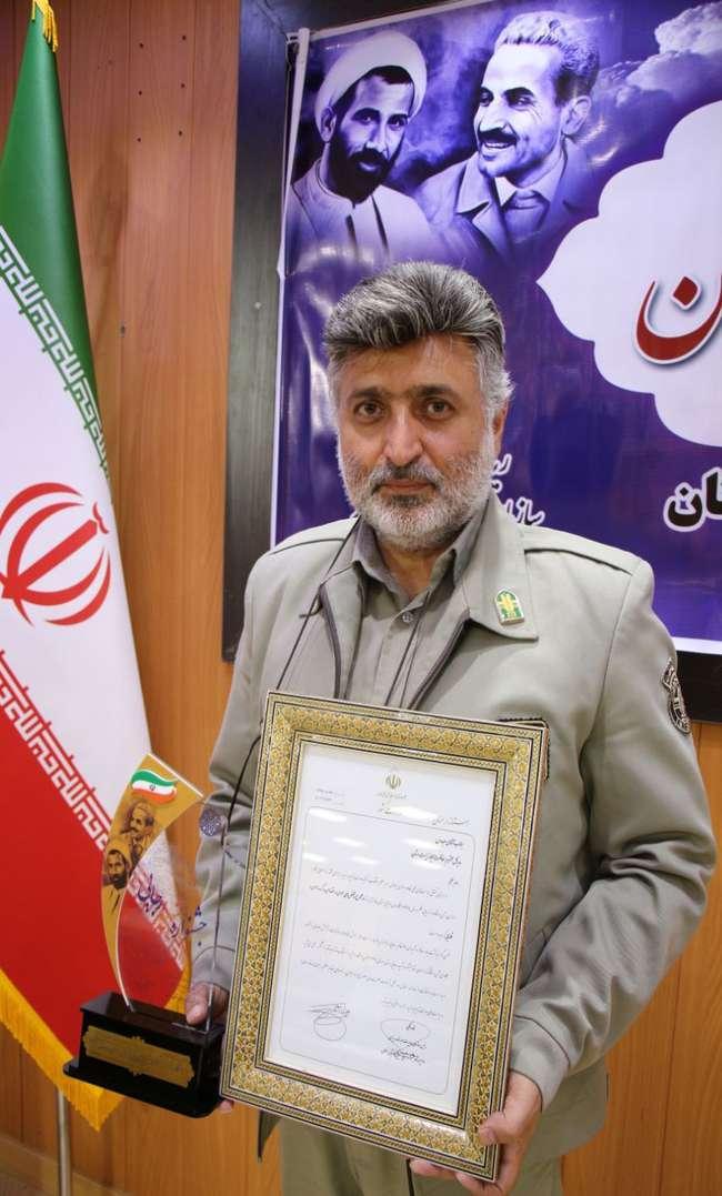 اداره کل حفاظت محیط زیست سمنان در جشنواره شهید رجایی سمنان مقام برتر را کسب کرد