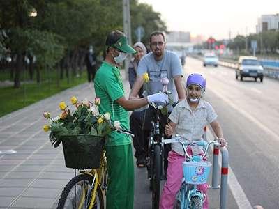 تقدیر سفیران سبز از شهروندان دوچرخه سوار