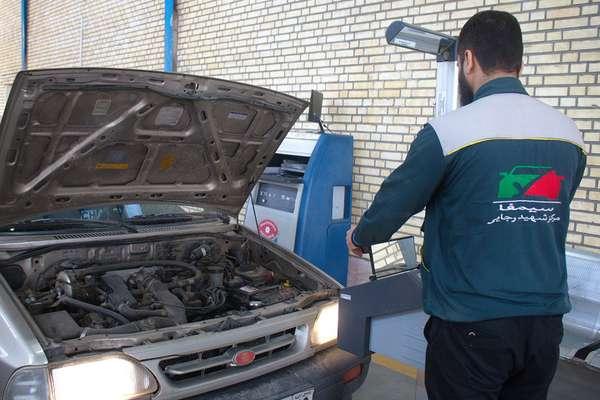 عملکرد شش ماهه خدمات رسانی معاینه فنی خودرو شهید رجایی شهرداری قزوین