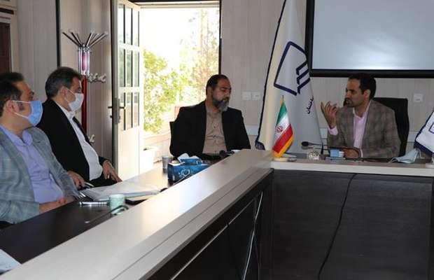 جلسه رئیس سازمان با مهندس عطا پور فرمانده جیرفت