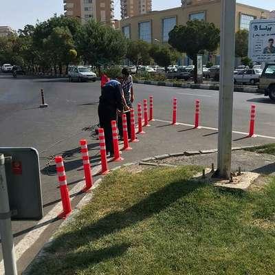 تداوم نصب تجهیزات ترافیکی در معابر تبریز