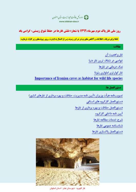 انتشار برو شور الکترونیکی روز ملی غار پاک