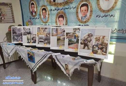 پیام رشادت شهدا و رزمندگان دفاع مقدس؛ بر فراز معابر جنوب غرب تبریز