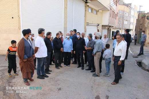 بازدید شهردار از حوزه منطقه ده