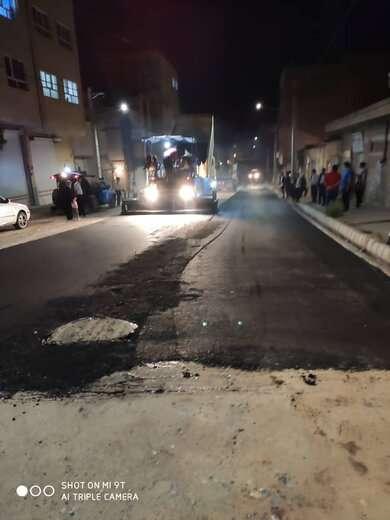 آسفالتریزی ۶۰۰ تنی در خیابان شهید جودی