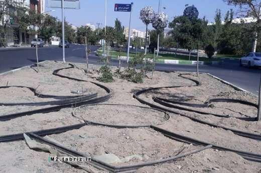 آمادهسازی طرح فرش گل در شهرک رجایی شهر