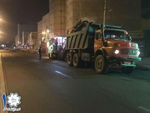 اجرای آسفالتتراشی ضلع شمالی خیابان عباسی از آخر عباسی به طرف کوی انقلاب
