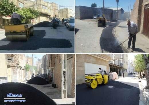 آسفالتریزی بیش از ۱۱ هزار تنی در جنوب غرب تبریز