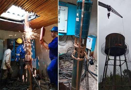 تقویت فشار آب شرب روستای زیده شهرستان فومن