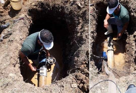 رفع ضعف فشار آب آشامیدنی روستای گاوماست شهرستان رودسر