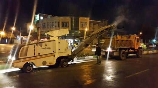 آغاز  عملیات زیرسازی خیابان فردوس