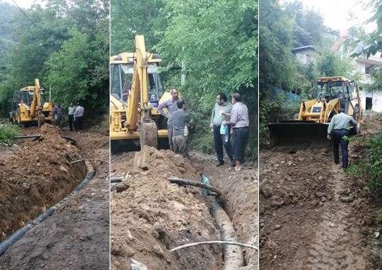 اجرای بی وقفه طرح آبرسانی به 2 هزار و 500 خانوار لاهیجانی