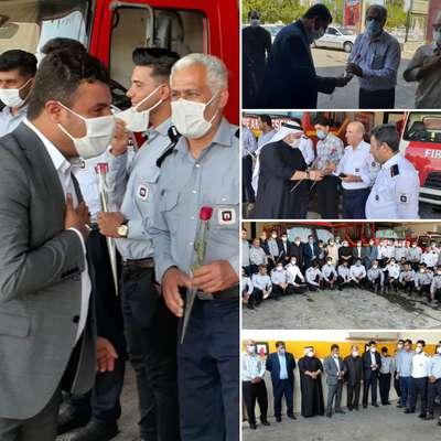 آئین تجلیل از آتش نشانان شهرداری خرمشهر به مناسبت هفتم مهرماه روز آتش نشانی و ایمنی