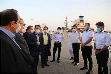 پهلودهی دهمین کشتی حامل گندم اهدایی هند به افغانستان در بندر چابهار/ تجلیل از دریانوردان شناورهای ترانزیتی در بندر چابهار/ بررسی وضعیت پروژههای توسعه ای بندر چابهار