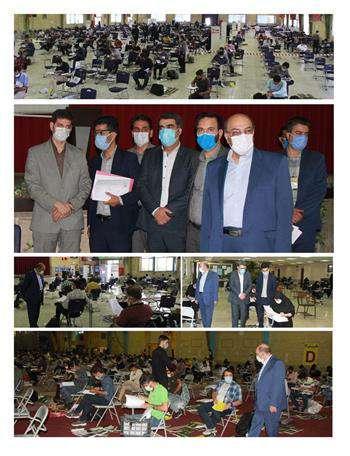 بازدید از روند برگزاری آزمون ورود به حرفه مهندسان در اصفهان