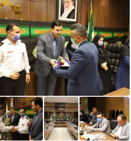 سازمان فرهنگی، اجتماعی و ورزشی شهرداری رشت : مراسم تقدیر و تشکر از آتش نشانان شهر باران های نقره ای
