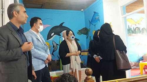 بازدید از خانه بازی کودکان اوتیسم  در رشت به مناسبت هفته ملی اوتیسم