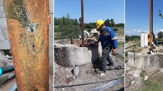 رفع مشکل آب شرب روستاهای کلرم و کوچیچال شهرستان فومن